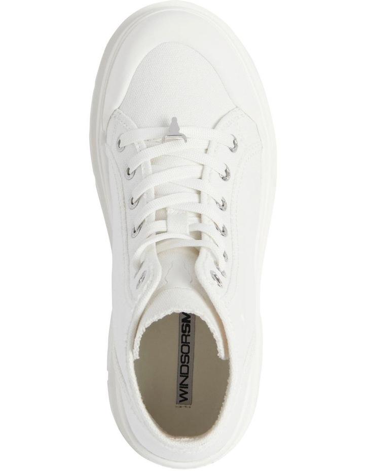 Deserve White Canvas Boot image 3