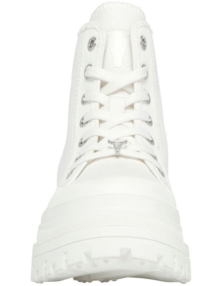 Deserve White Canvas Boot image 4