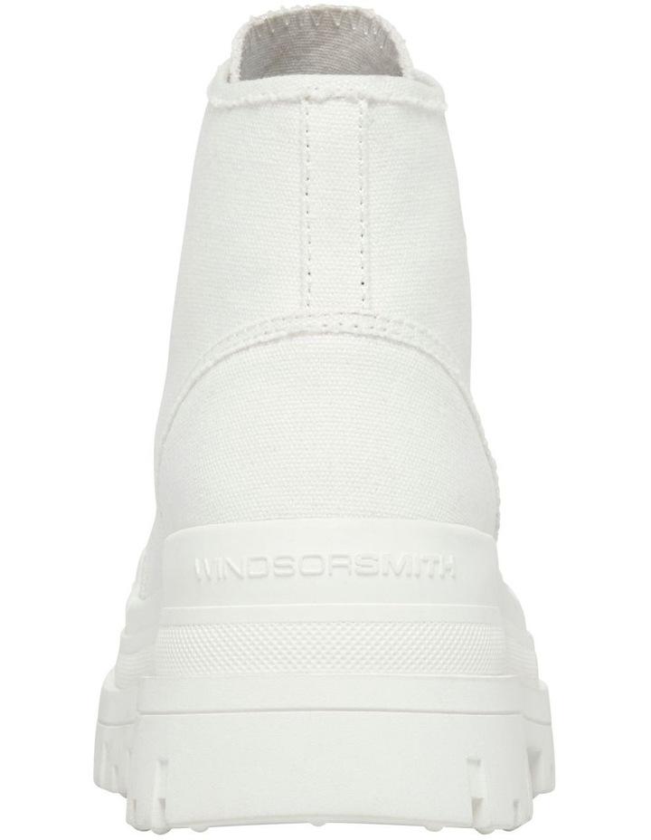 Deserve White Canvas Boot image 5