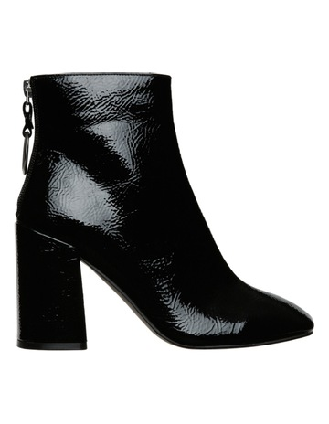 1d8f378b08b Miss Shop Pamper Black Patent Boot