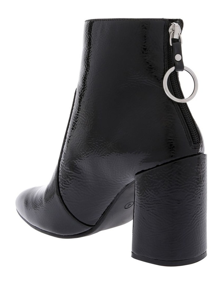 Presley Black Crinkle Patent Boot image 2