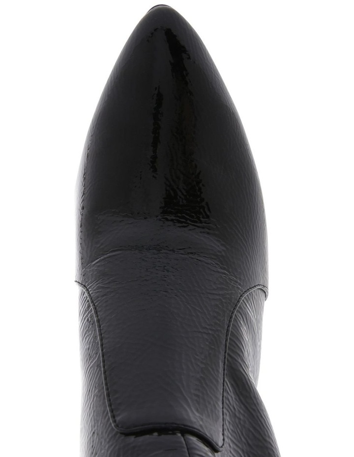 Presley Black Crinkle Patent Boot image 3