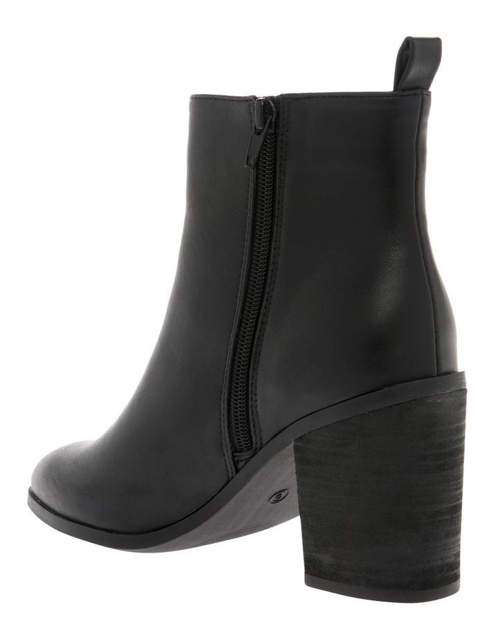 Chester Black Heeled Ankle Boot image 2