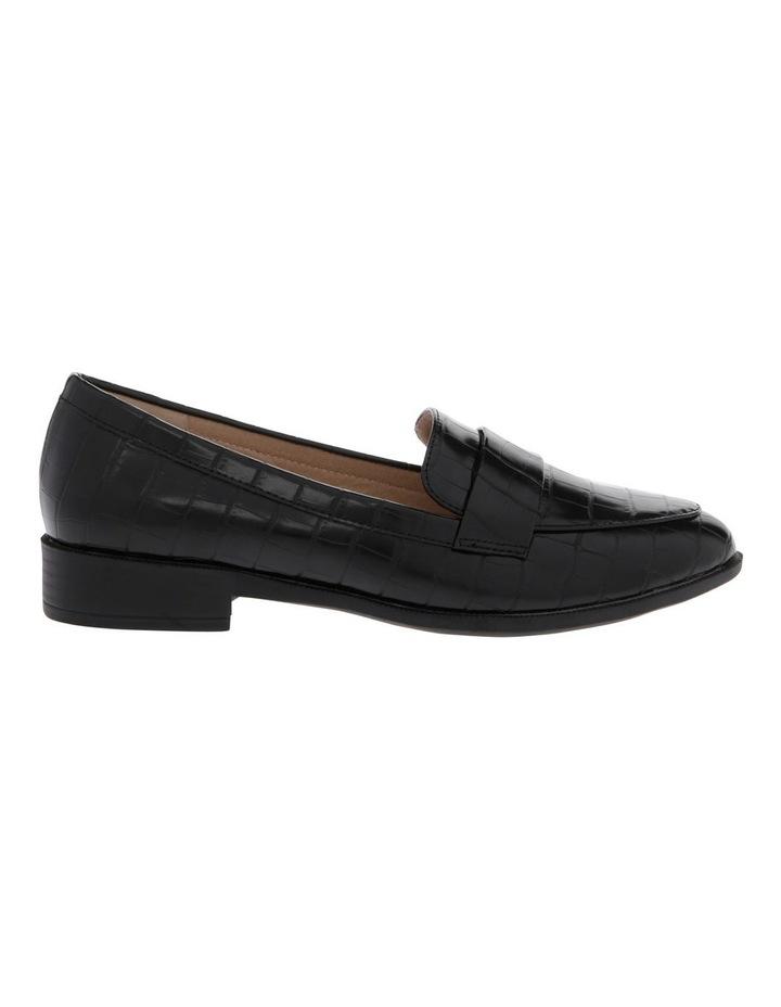 Franklin Black Croc Flat Shoes image 1