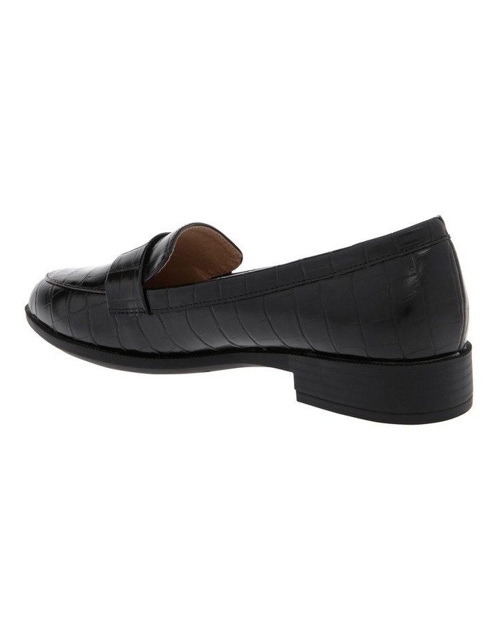 Franklin Black Croc Flat Shoes image 2