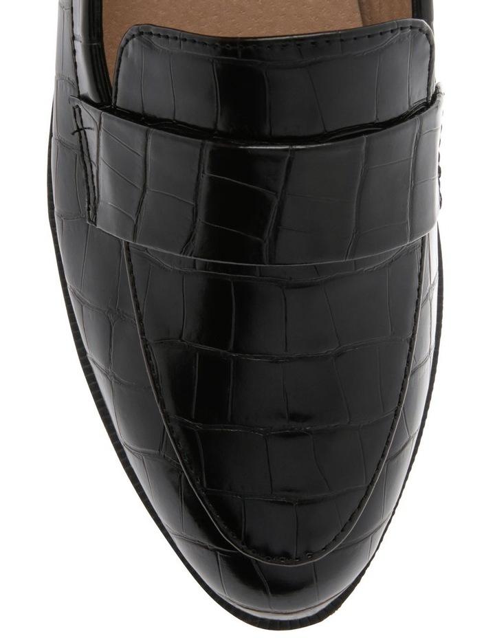 Franklin Black Croc Flat Shoes image 3