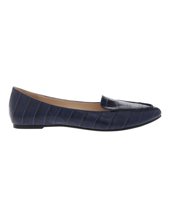 Carla Navy Croc Flat Shoes image 1