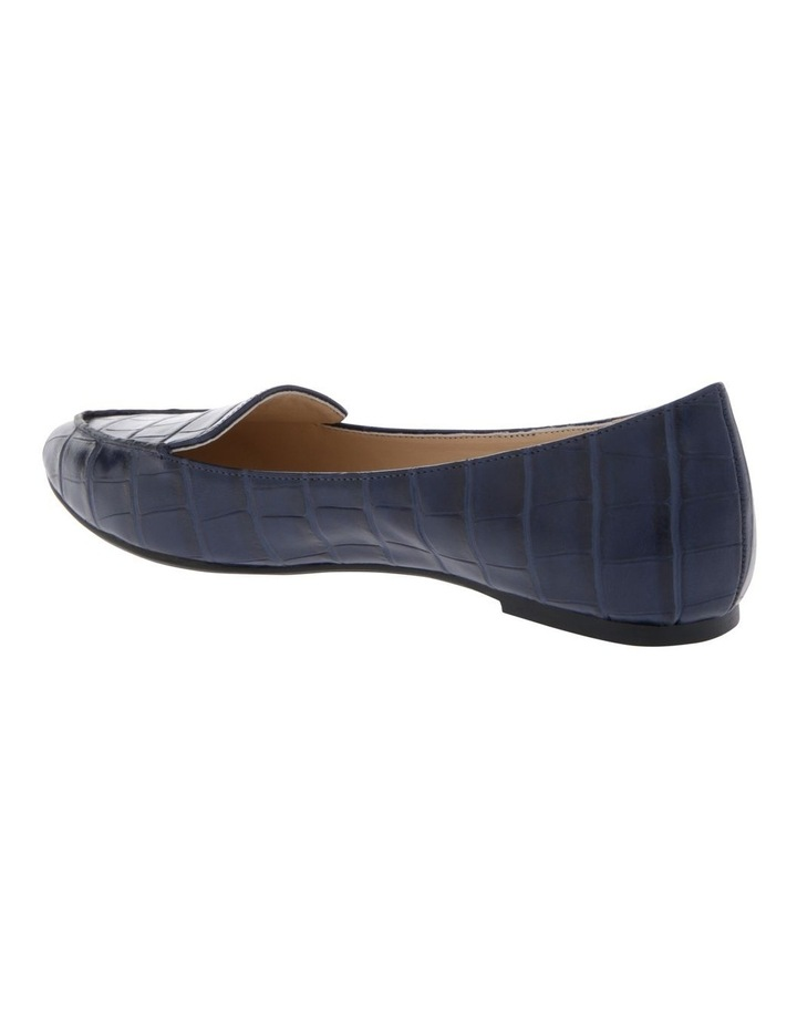 Carla Navy Croc Flat Shoes image 2
