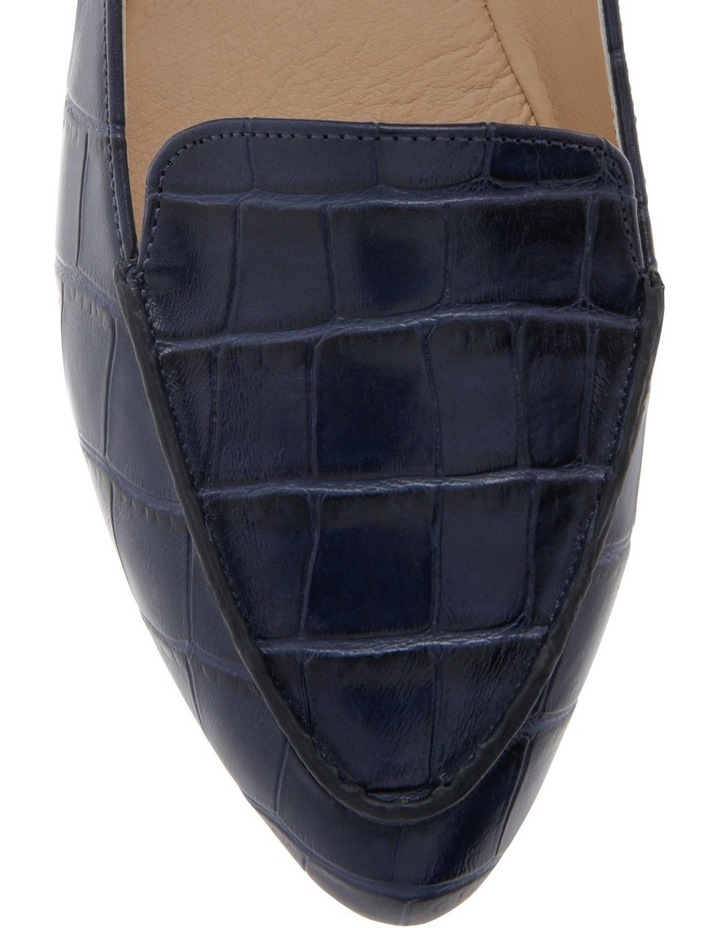 Carla Navy Croc Flat Shoes image 3