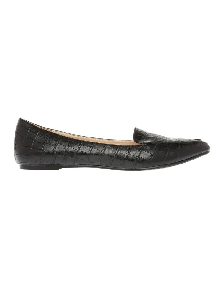 Carla Black Croc Flat Shoe image 1