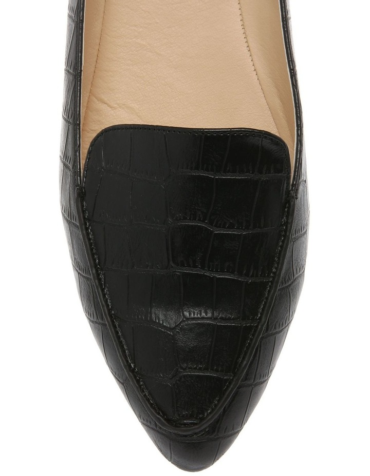 Carla Black Croc Flat Shoe image 3