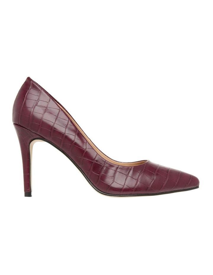 Leila Burgundy Croc Heeled Shoe image 1