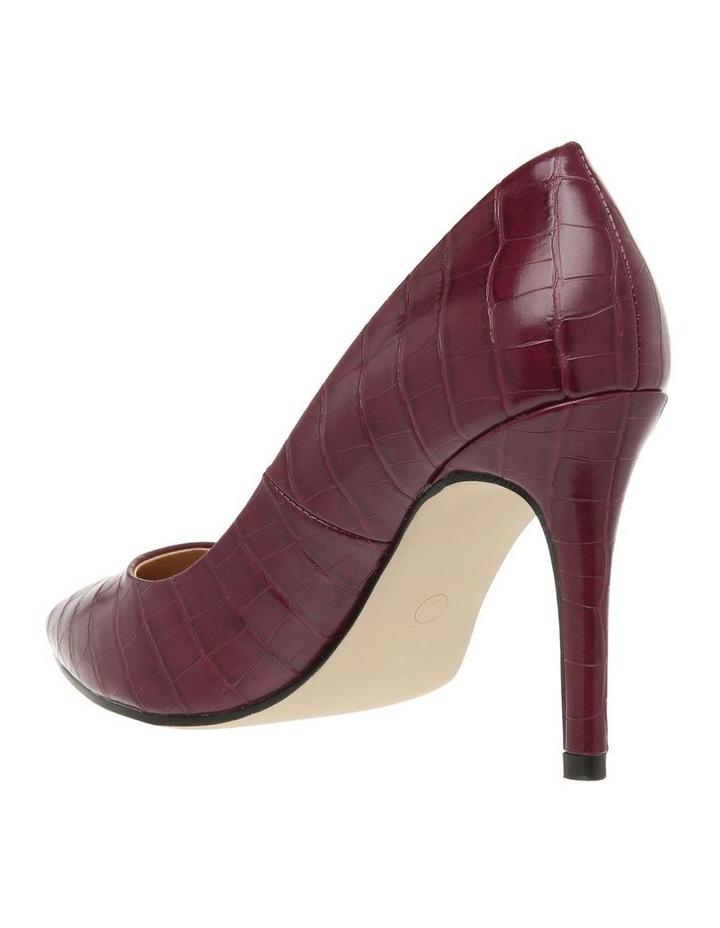 Leila Burgundy Croc Heeled Shoe image 2