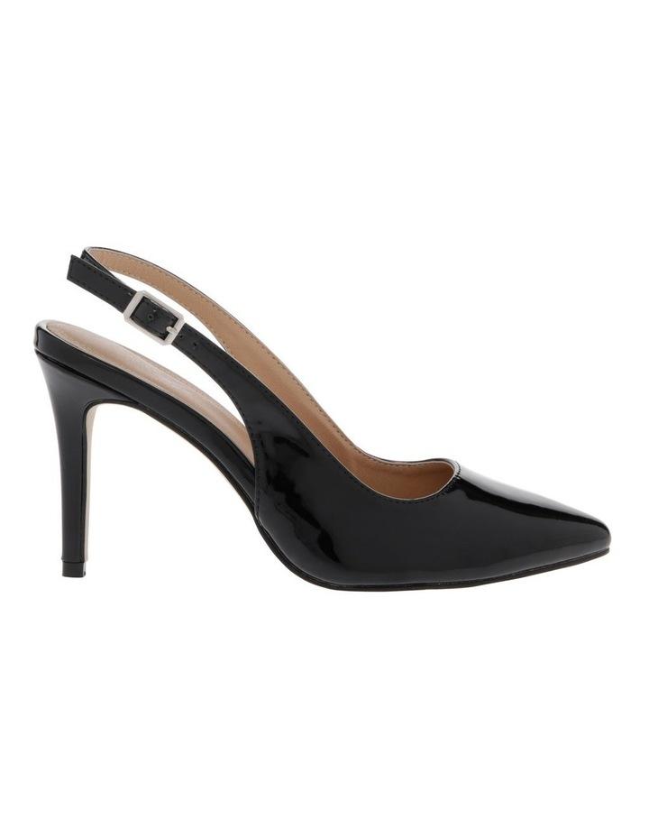 Lulu Black Patent Heeled Shoes image 1