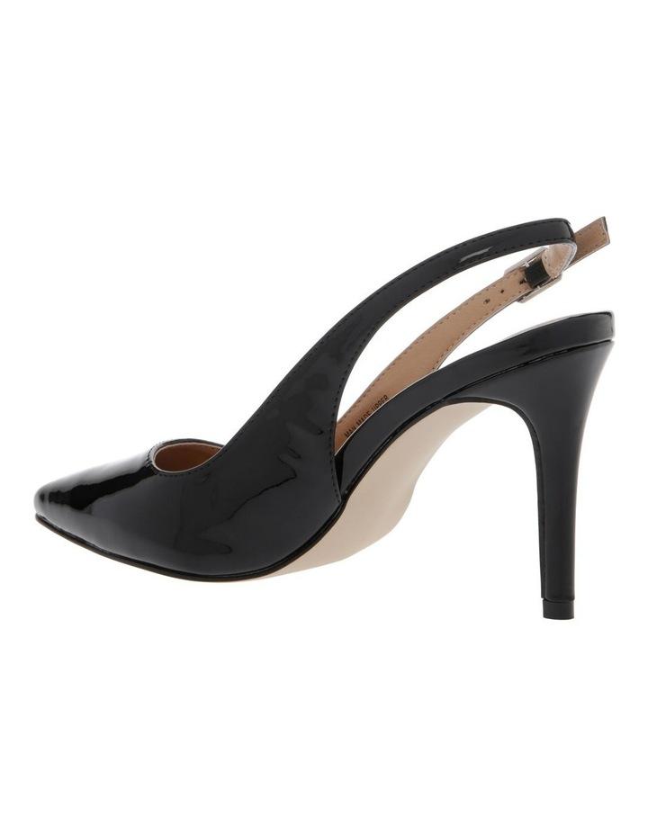 Lulu Black Patent Heeled Shoes image 2
