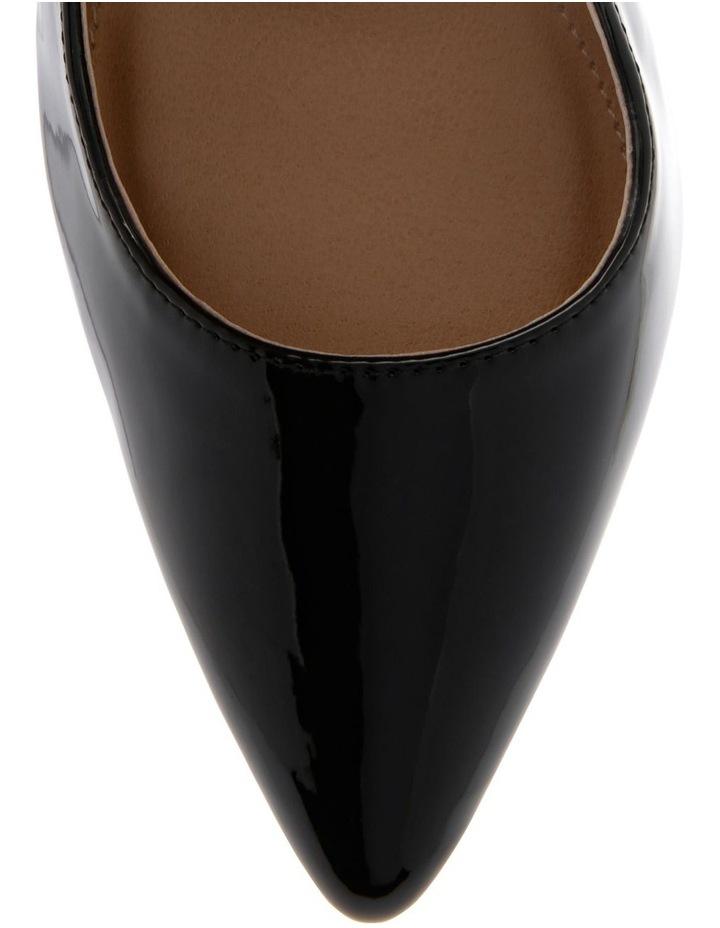 Lulu Black Patent Heeled Shoes image 3
