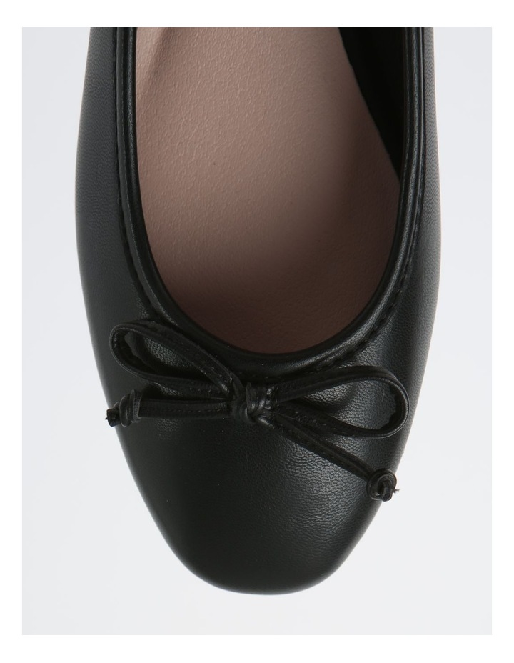 Robyn Black Leather Low Heeled Flats image 2