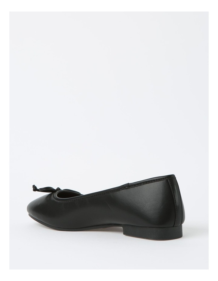Robyn Black Leather Low Heeled Flats image 3