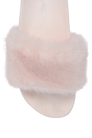 Miss Shop - Furr Pink Sandal