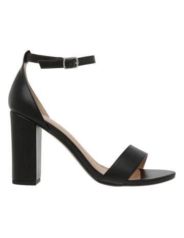 Miss Shop Madison Black Smooth Sandal 586021dc61d