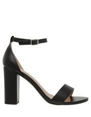 Madison Black Smooth Sandal