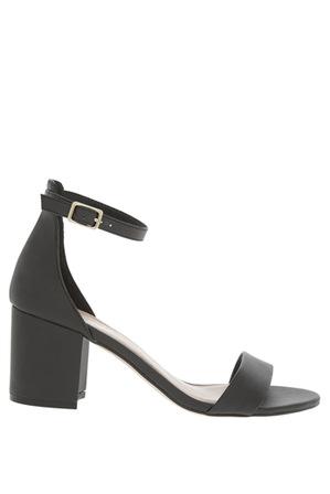 Miss Shop - Victoria Black Smooth Sandal