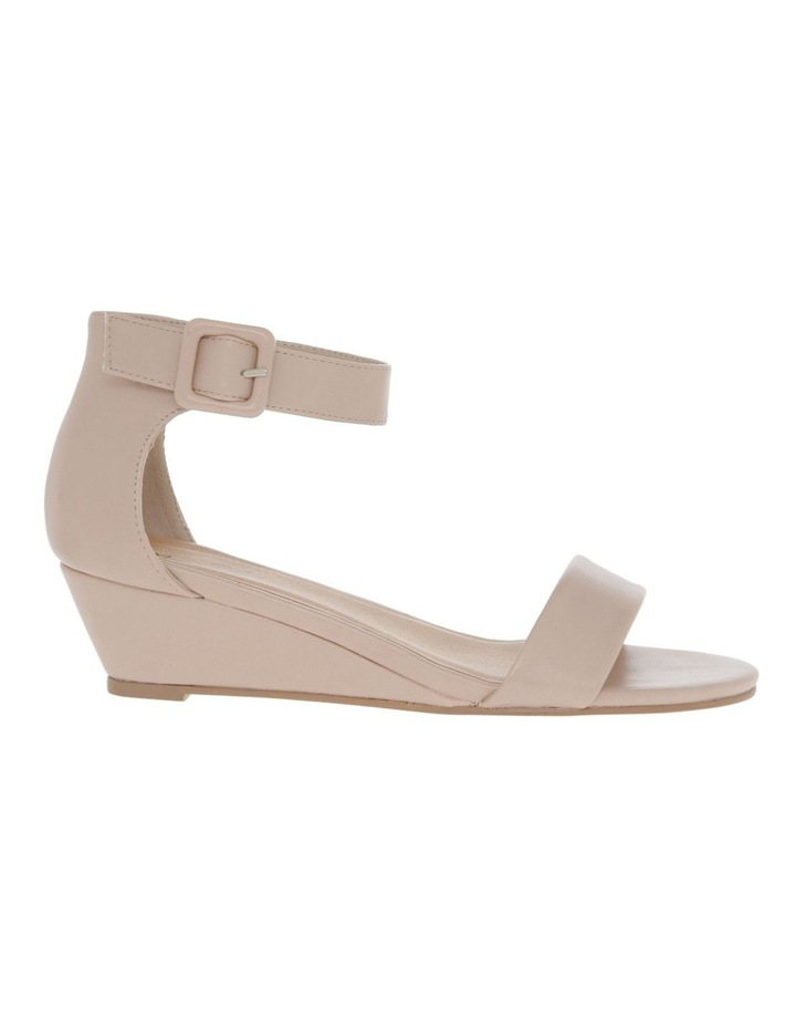 Bridgette Blush Wedged Low Heeled Sandal image 1