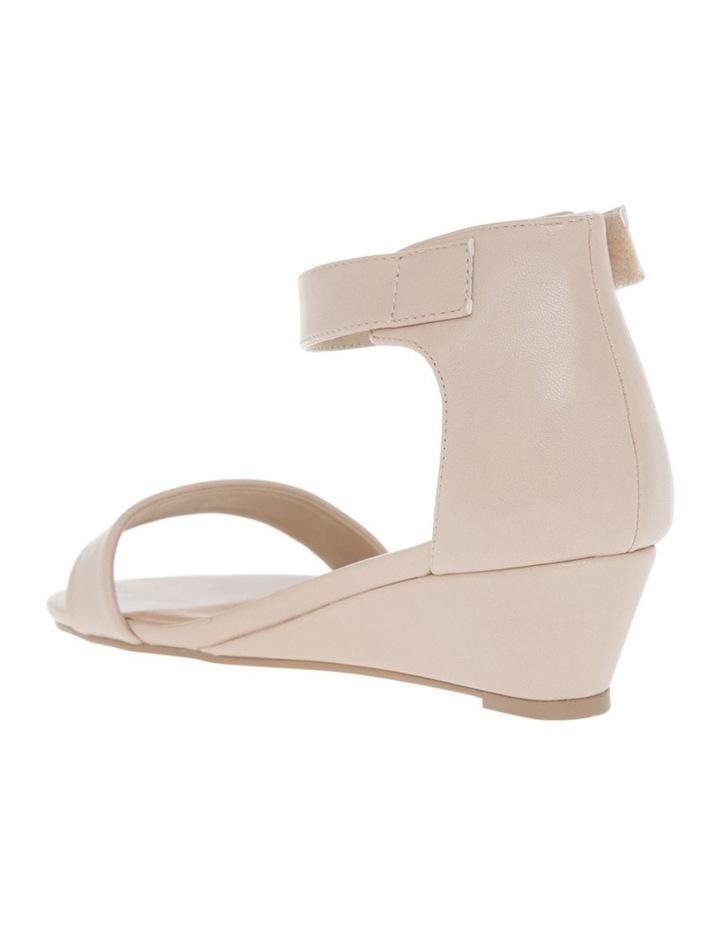 Bridgette Blush Wedged Low Heeled Sandal image 3
