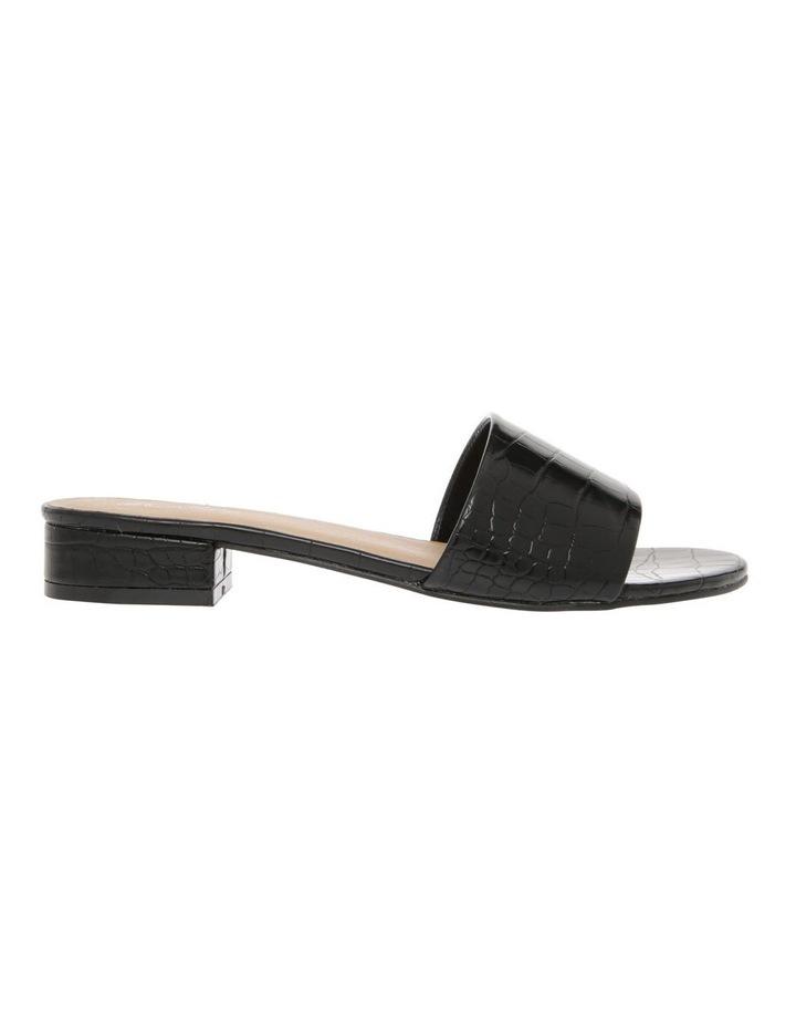 Ella Black Croc Sandal image 1