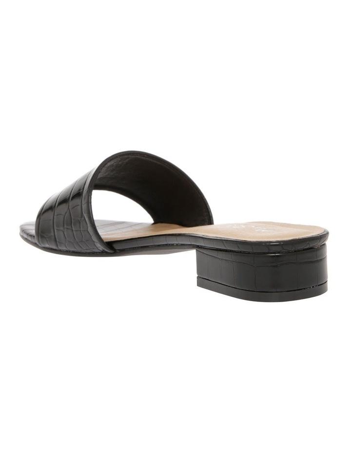 Ella Black Croc Sandal image 2