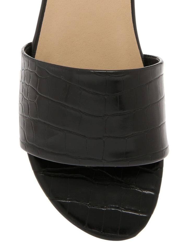 Ella Black Croc Sandal image 3