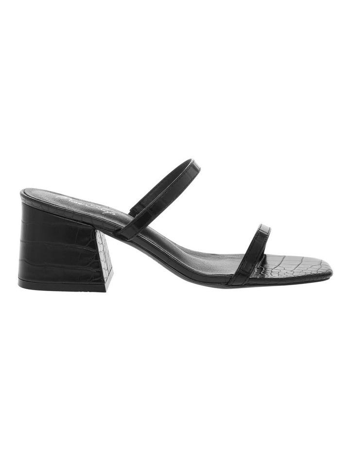 Mimi Black Croc Sandal image 1