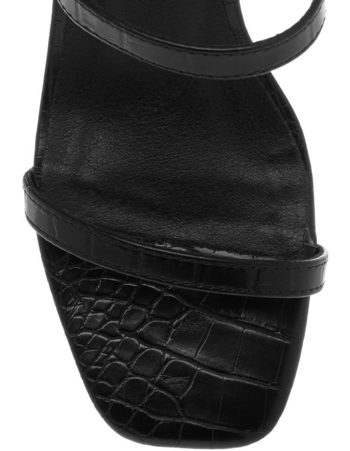 Mimi Black Croc Sandal image 3
