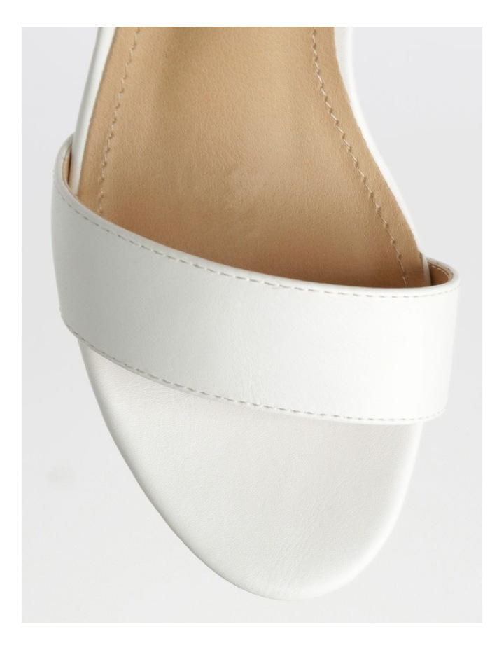 Beckham White Stacked Heel Sandal image 2
