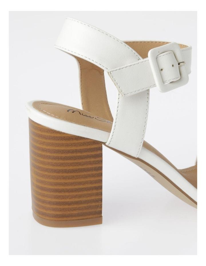 Beckham White Stacked Heel Sandal image 4