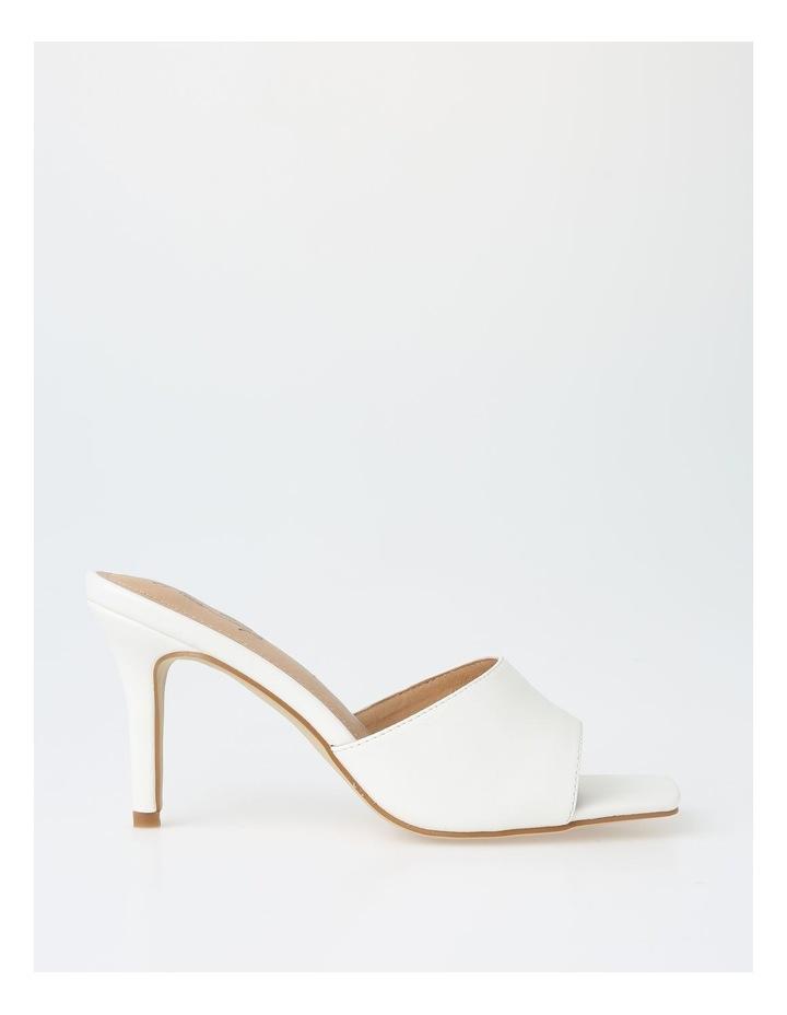 Ava White Stiletto Sandal image 1