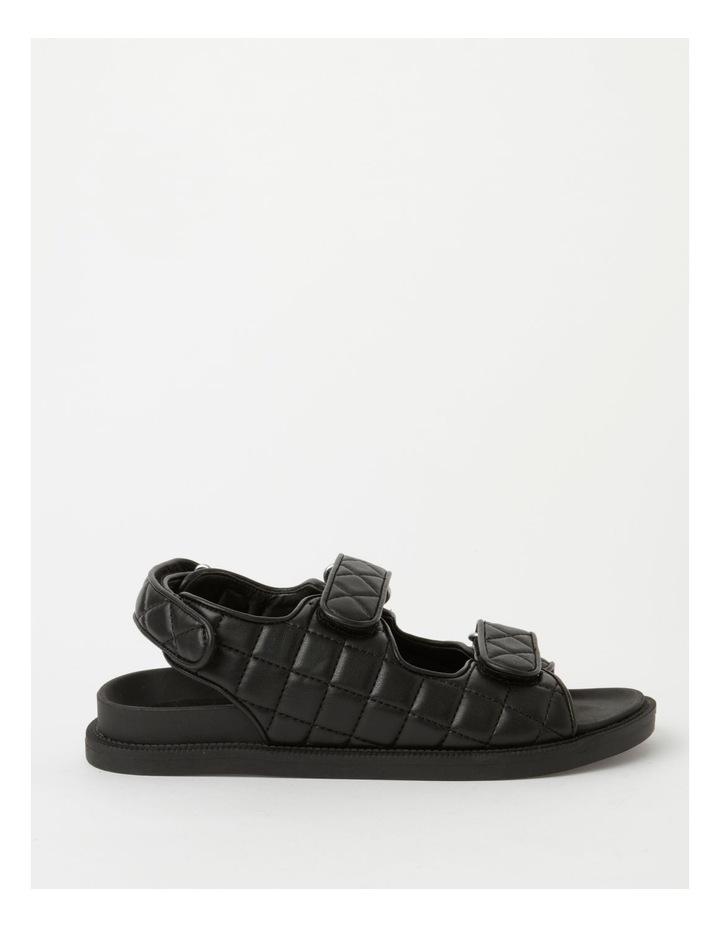 Dani Black Quilted Sandal image 1