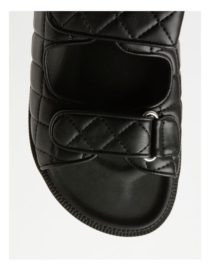Dani Black Quilted Sandal image 2