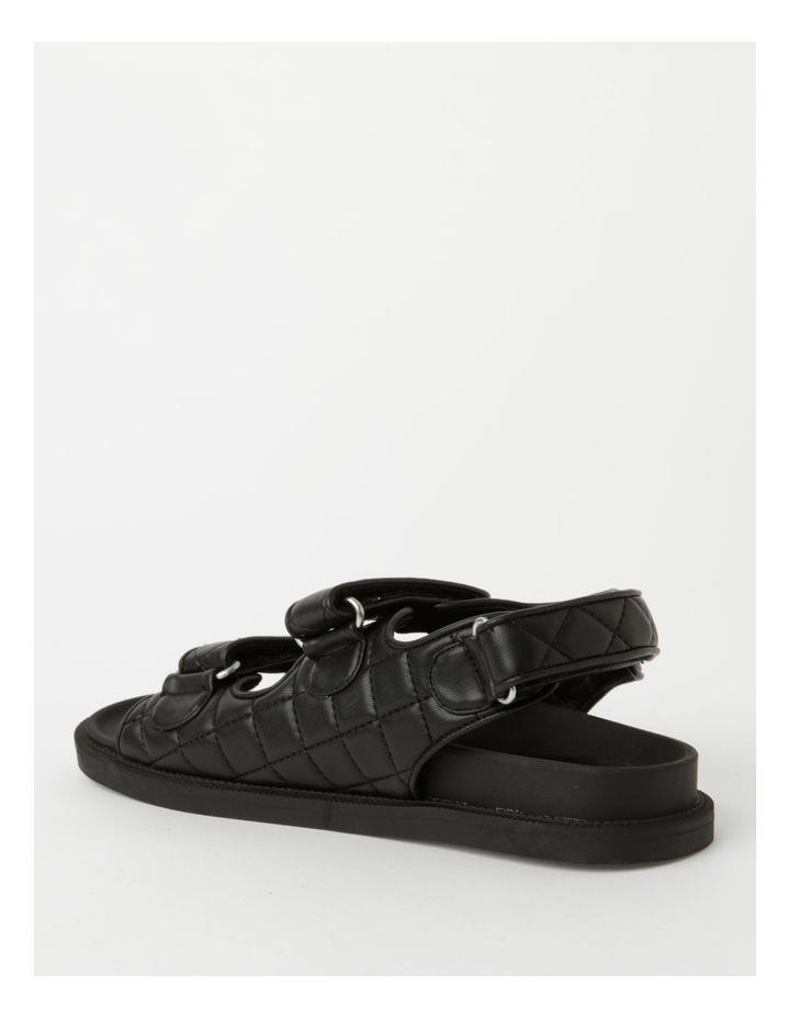 Dani Black Quilted Sandal image 3