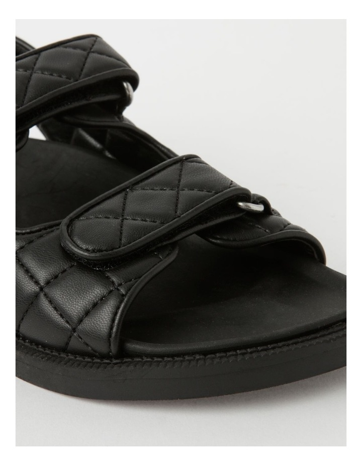 Dani Black Quilted Sandal image 4