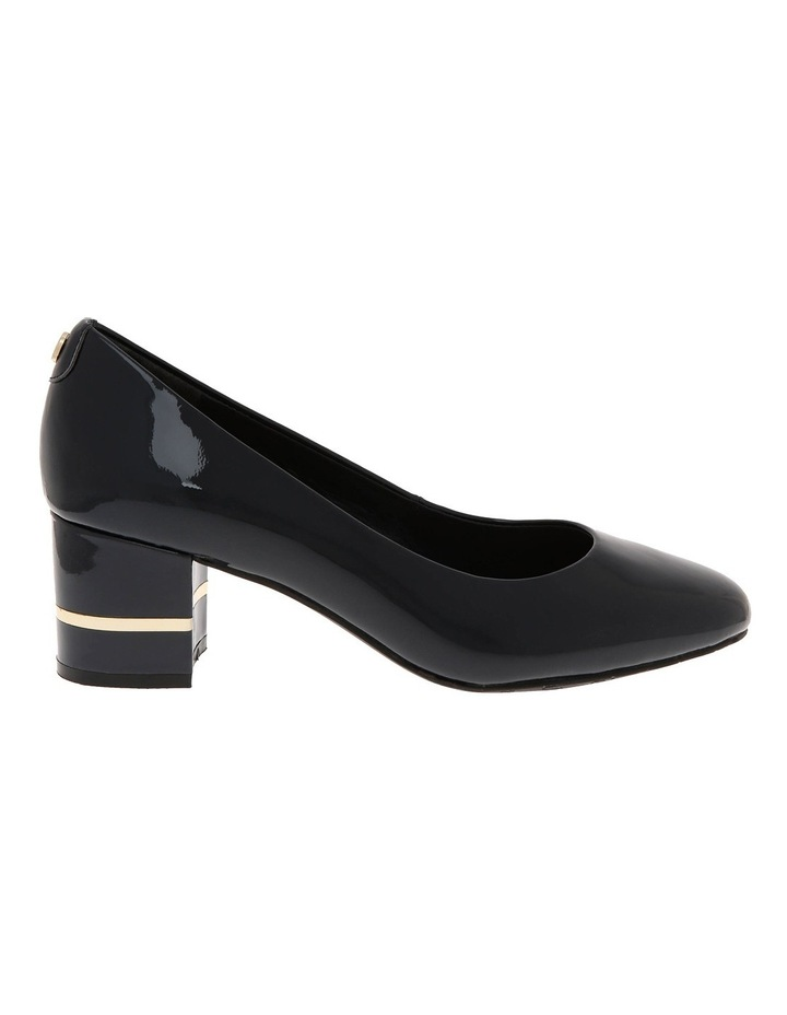 Geri Navy Patent Leather Heel image 1