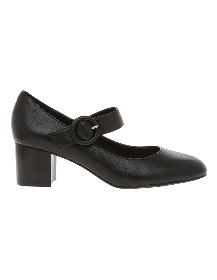 Gina Black Leather Pump image 1