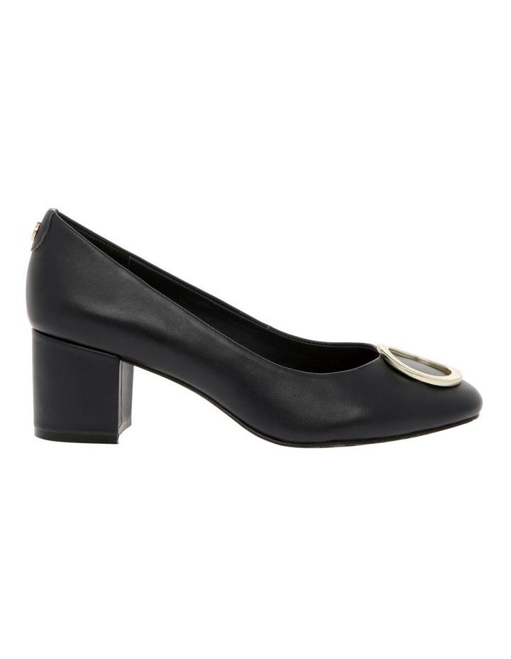 Gwyneth Black Leather Heel image 1