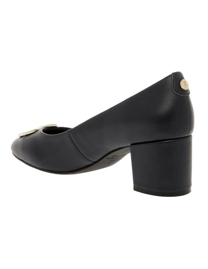 Gwyneth Black Leather Heel image 2