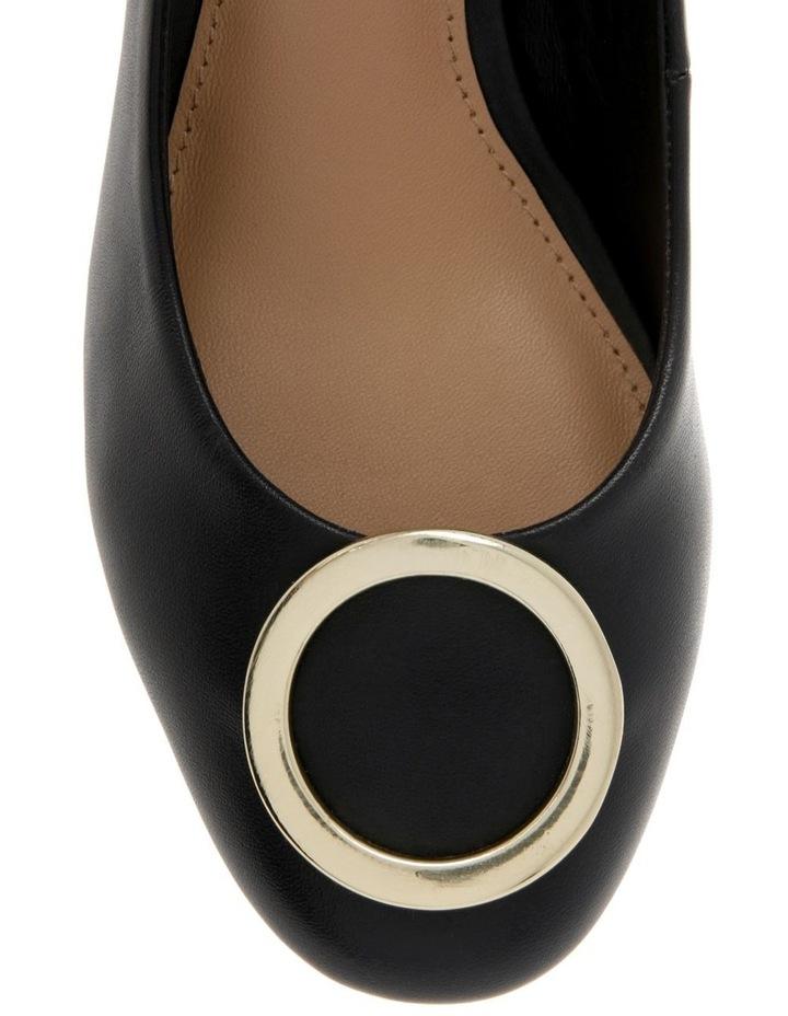 Gwyneth Black Leather Heel image 3