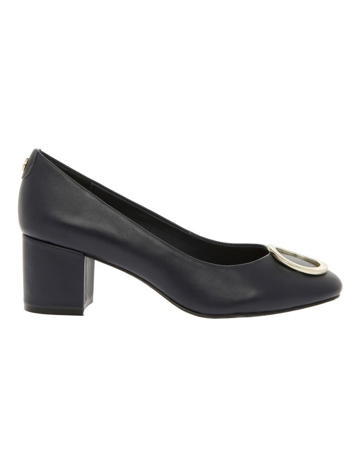 Gwyneth Navy Leather Heel image 1