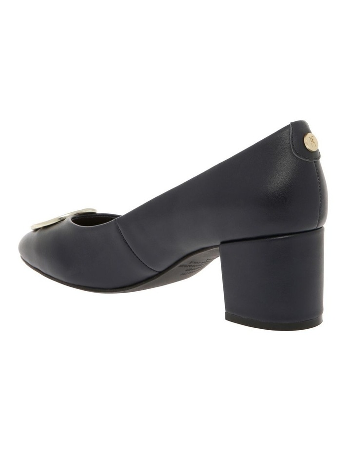 Gwyneth Navy Leather Heel image 2