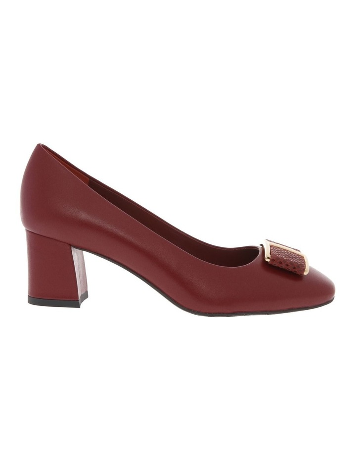 Ginny Red Cow Leather Heeled Shoe image 1