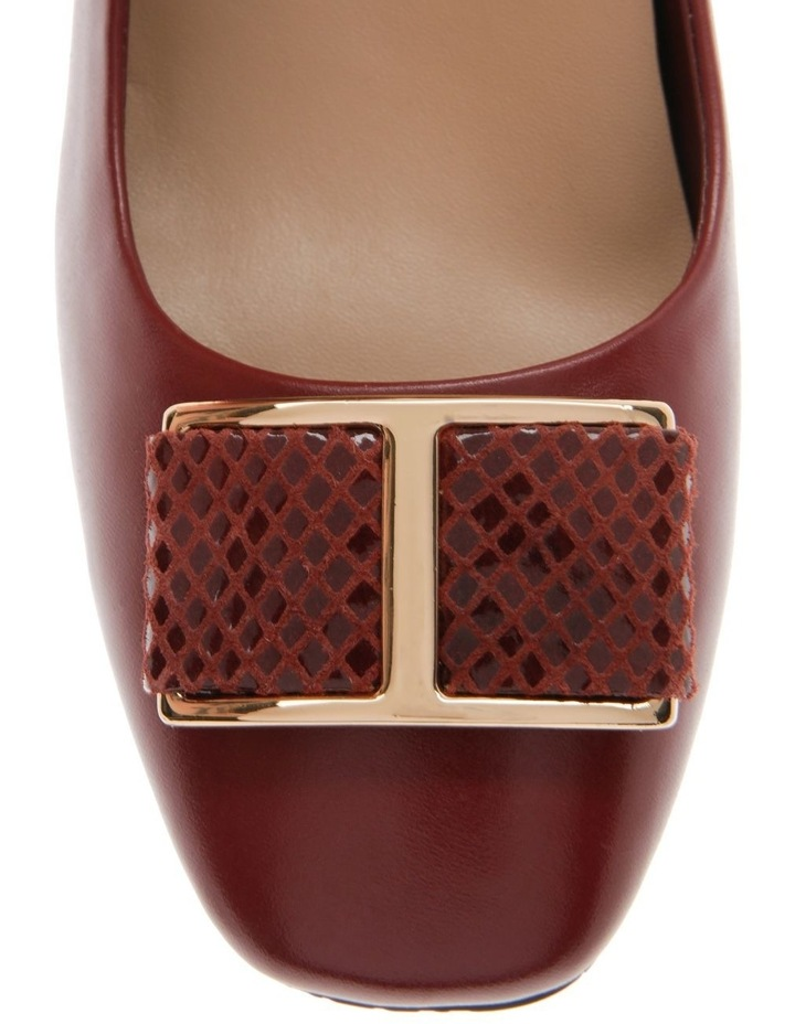 Ginny Red Cow Leather Heeled Shoe image 2