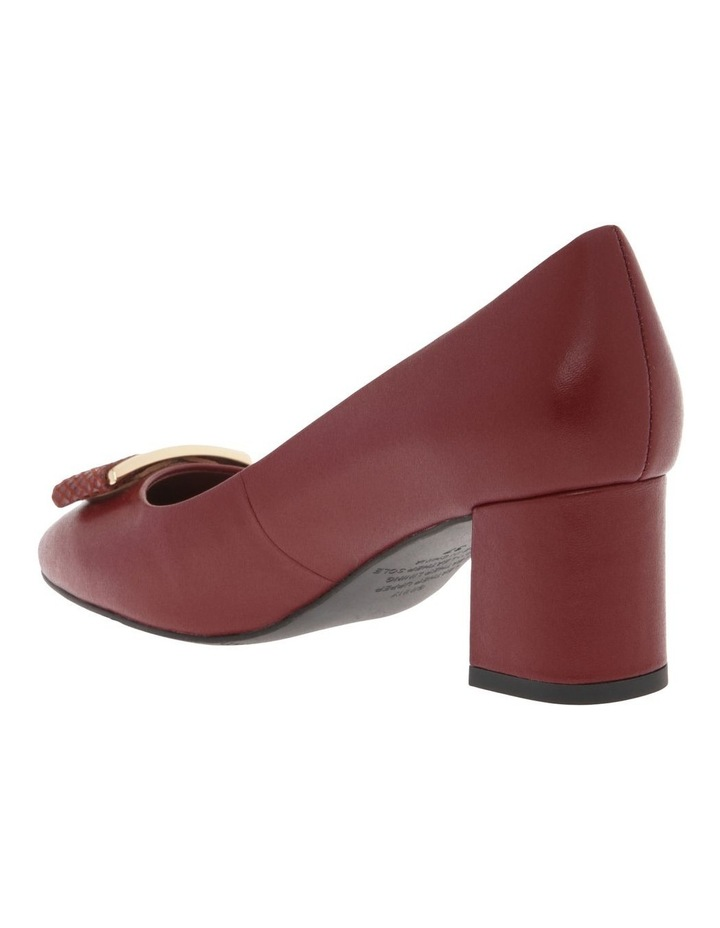 Ginny Red Cow Leather Heeled Shoe image 3